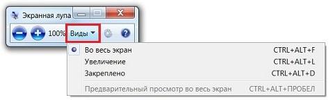Программа «Экранная лупа»