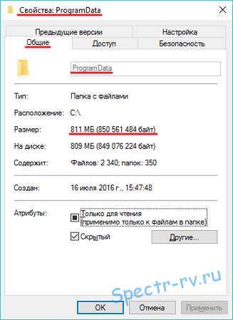 Папка ProgramData в Windows
