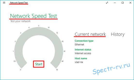 Проверка скорости интернета по методике Microsoft
