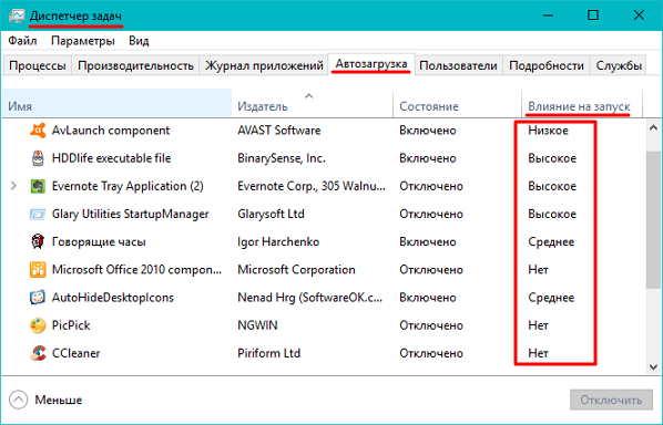 Быстрый поиск приложений тормозящих загрузку Windows 10